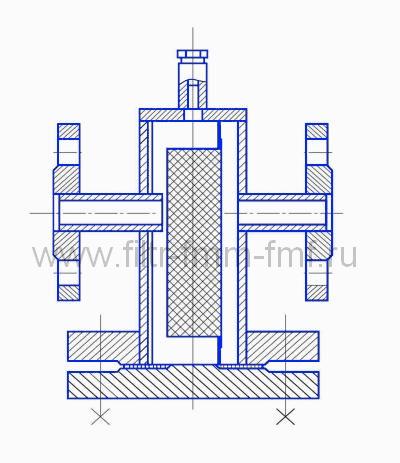 Фильтр сетчатый типа ФС-VIII